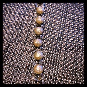 Vintaged golden bead bracelet
